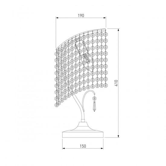 Настольная лампа Eurosvet 3122/1 золото Strotskis