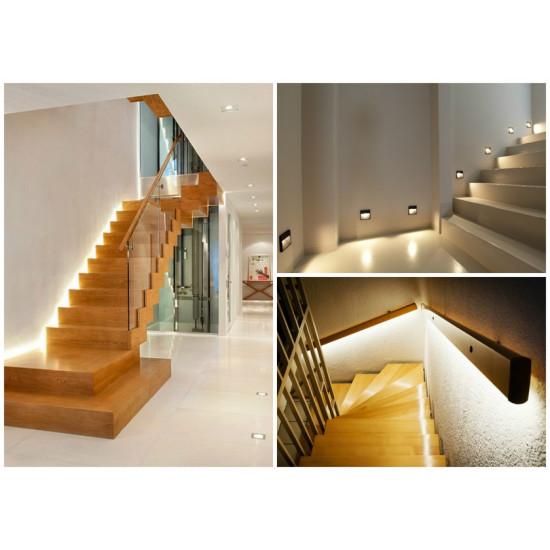 Способы освещения лестницы в коттедже